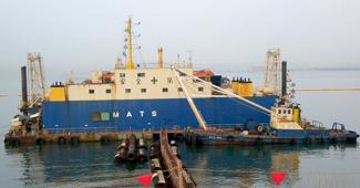 博多港揚土圧送イメージ画像