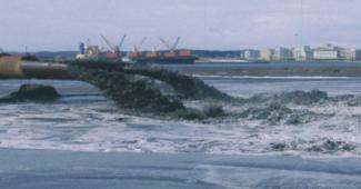 ポンプ浚渫揚土状況イメージ画像
