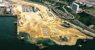 クワイチュン コンテナポート埋立(香港)