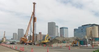 平成22年度豊洲五丁目防潮堤地盤改良工事イメージ画像