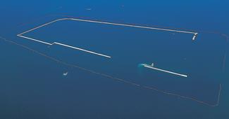 大阪沖埋立処分場護岸築造工事イメージ画像