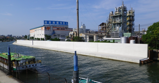 妙見島防潮堤建設工事(その10)